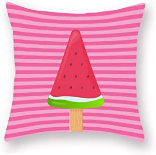 YANGYULU Throw Pillow Covers Summer Theme Decoration Pillow Cases for Couch Sofa Bed Home Decor Square Super Soft Cushion ...