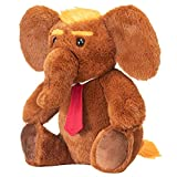 Donald Trump Stuffed 12' Inch Elephant Plush Doll Toy - are You a Large Teddy Bear Republican GOP Trumps 2020 Supporter OR Angry Liberal Democrat DNC Donkey Animal Lover, Political Toddler Gag Gift