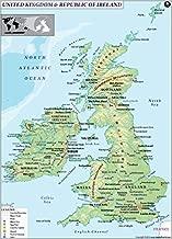 UK and Ireland Land Use Map - Laminated (36
