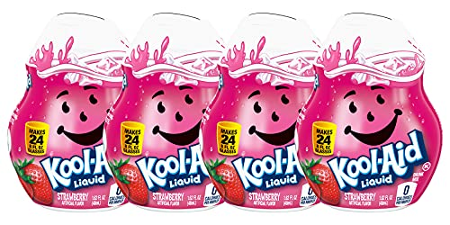 Kool Aid Liquid Drink Mix - Strawberry - 1.62 Fl Oz (Pack of 4) by Kraft
