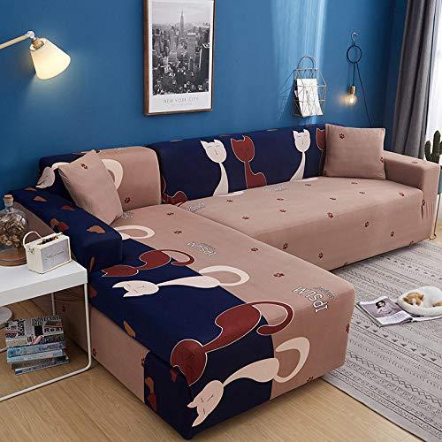 Allenger Funda de Fofá Elástica,Fundas de sofá elásticas seccionales para sofá en Forma de L, diseño de Funda para sillón de Esquina, 20_140-185cm