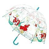 ディズニープリンセス アリエル ビニール傘 55cm 13703 キッズ 子供用 雨具 ドーム型 Disney Princess キャラクター 雑貨【即日・翌日発送】