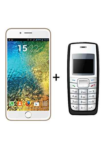 IKALL K1 5Inch 4G Android PhoneGold with K72Black