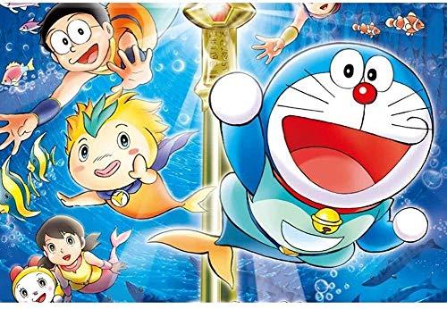 Lanxing Puzzles for Adultos 1000 Rompecabezas Pieza for Adultos 1000 pieceCartoon Animado Doraemon Puzzle, Puzzle for los Juegos de Juegos Familiares Juguetes (75x50cm) ( Color : B )