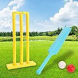 HBDY Juego de cricket, bate de grillo de madera, bola de tocones de madera con una bolsa de transporte de Big Game Hunters