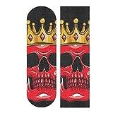 Glaphy Red Skull Skateboard Deck Sandpaper Non-Slip Grip Tape Waterproof Longboard Griptape 1 Sheet, 9.1x33.1 Inch