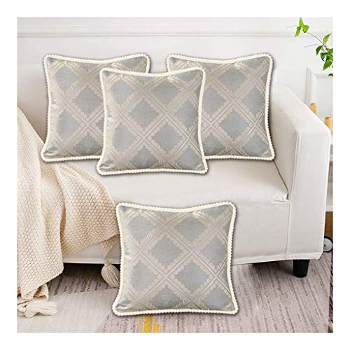 DaPeng Cushion Covers,4 Pack Soft Embroidery Cushions, Cushions for Sofa Bedroom Car 45 X 45cm(Without Core)