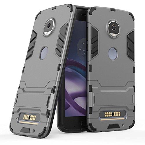 Funda para Motorola Moto Z2 Play (5,5 Pulgadas) 2 en 1 Híbrida Rugged Armor Case Choque Absorción…