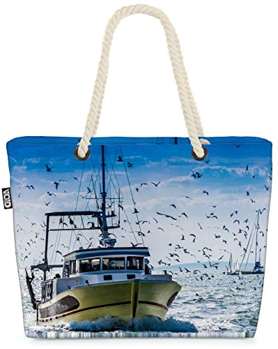 VOID Barco de Pesca de Arrastre Bolsa de Playa 58x38x16cm 23L Shopper...