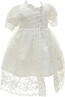 KRUIHAN Birthday Christening Toddler Girl Dress Newborn Baptism Gown Wedding Party