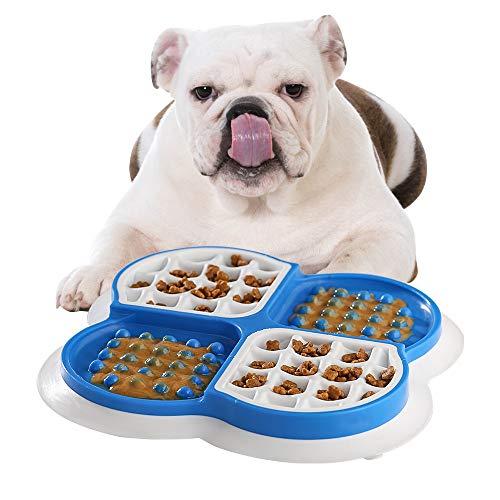 Anti Schling Napf für Hunde Katzen Interaktiver Langsame Fütterung Hundenapf,Hunde Intelligenz Spielzeug,Slow Feeder Fressnapf,Leckmatte für Hunde,perfekt für Joghurt,Erdnussbutter oder Kürbispüree