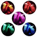 2win2buy 5 Pairs LED Light Up Shoelaces Casual Sneaker Waterproof Plastic Shoe Strings Halloween Christmas Party Disco Dancing Hip Pop...