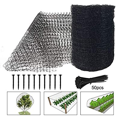 Deer Fence Netting, 7 x 100 Feet Bird Netting Heavy Duty Anti Bird Deer Protection Net Reusable Protective Garden Netting for Plants Fruit Trees Against Birds, Deer and Other Animals