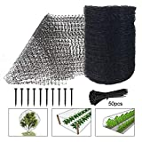 Feitore Deer Fence Netting, 7 x 100 Feet Bird Netting Anti Bird Deer Protection Net Reusable Protective Garden Netting for Plants Fruit Trees Against Birds, Deer and Other Animals