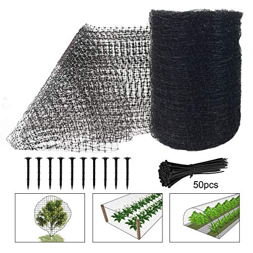 Feitore Deer Fence Netting, 7 x 100 Feet Bird Netting Anti Bird Deer Protection Net Reusable Protective Garden Netting for Plants Fruit Trees Vegetables Against Birds, Deer and Other Animals
