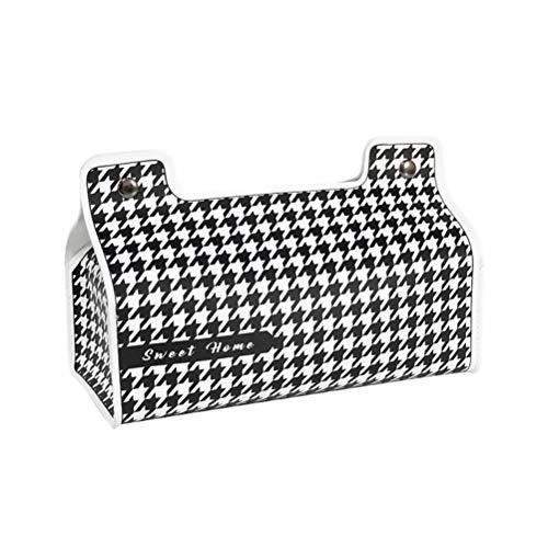 ABOOFAN Enkel näsdukshållare läder servett dispenser behållare för kök sovrum