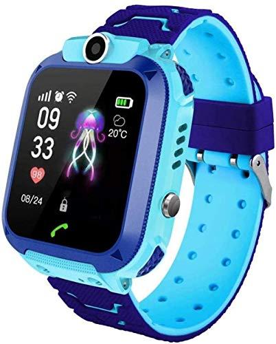 Reloj inteligente para niños con pantalla táctil de 1,4 pulgadas, rastreador GPS con posicionamiento preciso SOS para ayudar a los niños regalo de cumpleaños azul