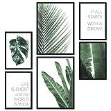 bilderreich Premium Poster Set Bilder Deko Wohnzimmer