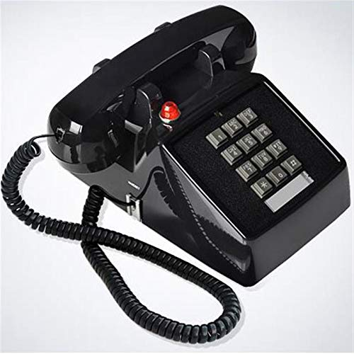 Oficina Teléfono Fijo Teléfono Retro Línea Fija Antigua Antigua Antigua Teléfono Fijo Oficina Home Hotel Película Negro Blanco Rojo (Color : Black)