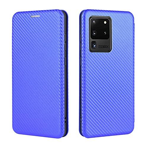 Tapa de la caja de la caja del teléfono Para Samsung Galaxy S20 Ultra Case Fibra de carbono Luxury Fibra de carbono PU y TPU Funda Hybrid Protección completa Funda de flip a prueba de golpes para Sams