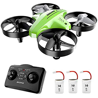 ATOYX Drone for Kids, Drone for Children , 3D Flips, 3 Speeds, Drone Kids with 3 Batteries , Altitude Hold, Headless Mode, One Key Take Off/Landing/Return Drone for Beginner AT-66C (Green) by Hnstars-uk