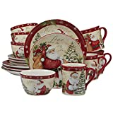 Certified International 89127 Holiday Wishes 16 piece Dinnerware Set, Set of 4, One Size,...