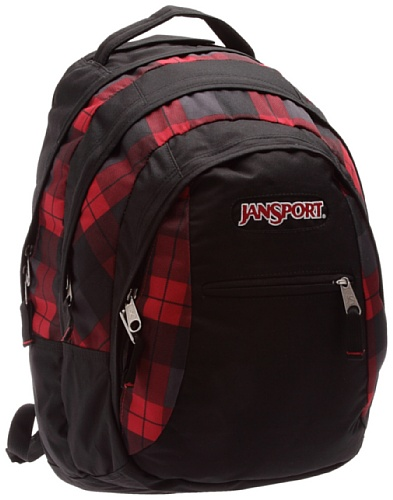 JanSport Rucksack Beamer, Black/Red Tape Kurt Plaid, 32 Liter, TPZ6