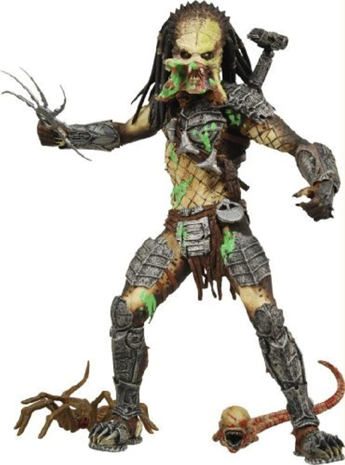 Alien VS. Predator  Requiem NECA Action Figure Series 4 Battle Damaged Unmasked Predator by Alien Predator