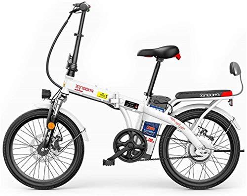 Bicicleta Eléctrica Bicicleta eléctrica plegable de 20 'con batería de iones de litio de gran capacidad extraíble (48V 250W), 3 modos de equitación, frenos de doble disco Batería eléctrica Batería de