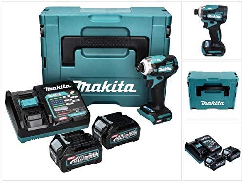 Makita TD001GD201 Atornillador de impacto inalámbrico 40 V máx. 2 baterías y cargador en MAKPAC