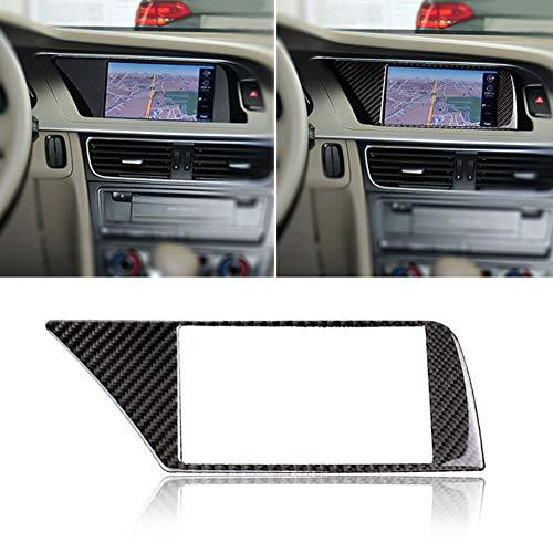 YSHtanj Auto-Navi Rahmen Aufkleber Innendekoration Autoaufkleber Carbonfaser Car Navigation Screen Frame Cover Sticker für Audi A4 B8 09-16