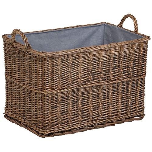 Hartleys Lined Wicker Log Basket