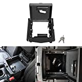 Security Console Insert Center Console Safe Heavy Duty Armrest Storage Lock Box Fit for Jeep Wrangler 2018 2019 2020 JL JLU