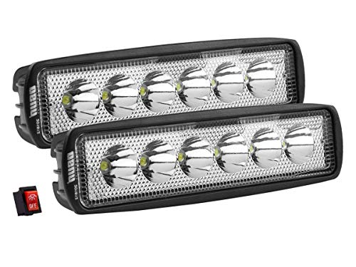 Par De Faros LED Aalta Intensidad 18w Luz Concentrada con 6 led