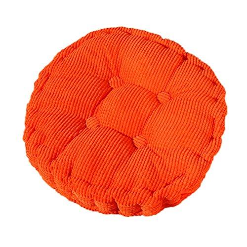 MSYOU Stuhlkissen, weich, rund, bequem, für Zuhause, Küche, Garten, Esszimmer, Büro, 40 x 40 cm, dunkelblau 40*40cm orange