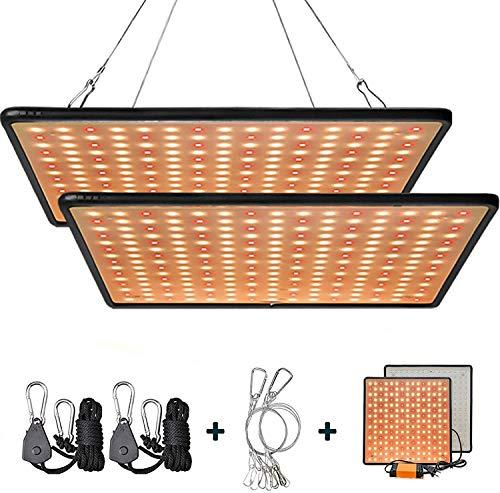 GREENSINDOOR 300W LED Pflanzenlampe, LED Pflanzenlampe Vollspektrum LED Pflanzenlicht für Zimmerpflanzen Gemüse und Blumen (Warmweiß)