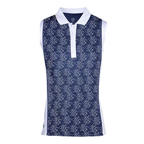 Island Green Camisa de Polo sin Mangas con Estampado Floral de Freesia para Mujer, Mujer, Camisa de Golf,...