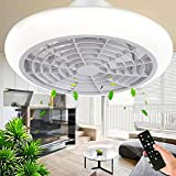 Ventilatore da Soffitto con Luce e Telecomando Dimmerabile Ventilatore a LED Invisibile Moderno e Creativo 3...
