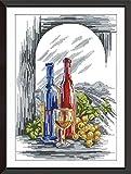 Caihoyu DIY Punto de Cruz Bordado de Kits Principiantes de Punto Botella de Cerveza 40x50cm Adultos Niños Regalo decoración del hogar preimpreso Bordado de 11CT