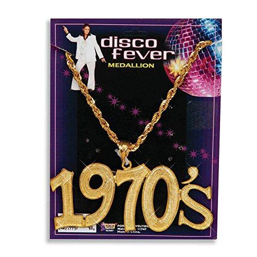 Bristol Novelty BA1079 halsketting in de stijl van de jaren 70, dames, goud, eenheidsmaat