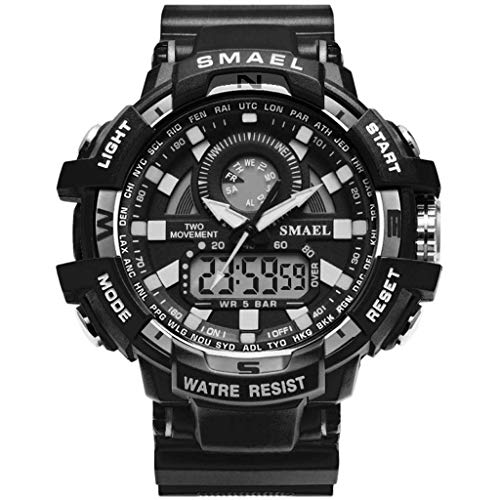 Uhren Herren TTLOVE Sportuhren Led Digitaluhren Outdoor Sports Watch wasserdichte Armbanduhr Leuchtend Uhr Mann Doppeltes Display-Zifferblatt Uhren