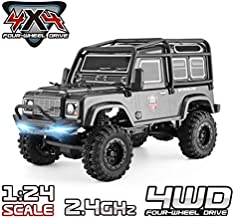 RGT RC Crawler 1:24 Scale 4WD Off Road RC Car Mini Monster Truck Hobby Crawler Cruiser RTR 4X4 Waterproof Rock Crawler Grey