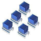 HAOJUE TMC2208 V1.2 Stepstick motore passo-passo driver modulo motore driver con dissipatore di calore per parti di stampante 3D (colore : 5 pezzi)