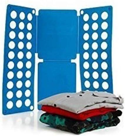 Ducomi® Doblar la Ropa para Camisas Rápida del Doblez, Vestidos, Pantalones, Camisetas. Doblar la Ropa (Grande: 70 x 59 cm, Colores Mezclados)