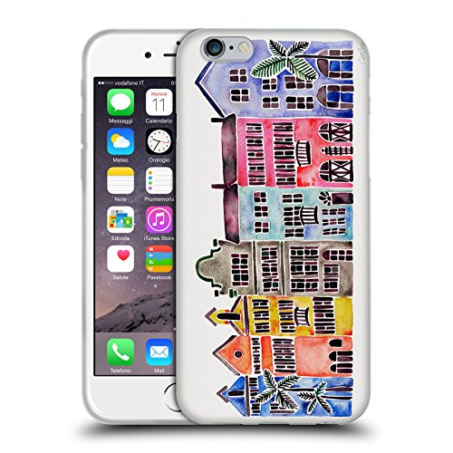 Head Case Designs Oficial Cat Coquillette Row Arco Iris Rainbow Edificios Carcasa de Gel de Silicona Compatible con Apple iPhone 6 / iPhone 6s