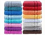 Milano de luxe Handtücher BIO-Baumwolle, extra schwere Qualität, 600 g/m2, by NATURA WALK - Farbe 081 anthrazit, Grösse Handtuch 50x100 cm