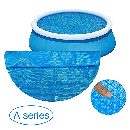 Gyratedream Runde Pool Abdeckung Protector for 8/10/12 / 15ft Heizdecke für runde Schwimmbäder im Boden und über dem Boden Easy Set