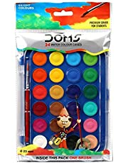 DOMS 7428 WATER COLOUR CAKES 24 COLOURS
