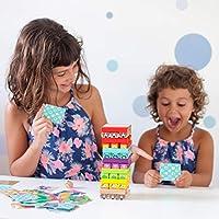 Nene Toys - Torre Magica Colorata in Legno con Animali – Gioco Educativo da Tavolo per Bambini - Gioco Didattico 4 in 1 per Bambini da 3 a 9 anni – Giocattolo Ideale come Regalo per Genitori e Figli #1
