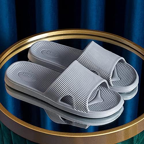 MDCGL Verano Interior Zapatillas Sandalias de baño Antideslizantes Zapatillas Mujer Verano baño Interior Pareja Zapatos Hombres para jardín, Piscina Grey1 EU43-44